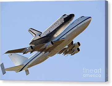 Space Shuttle Endeavour Mounted Canvas Print by Stocktrek Images