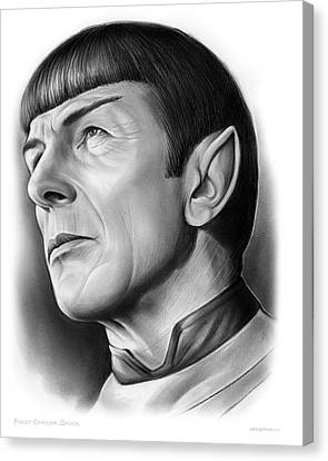 Spock Canvas Print by Greg Joens