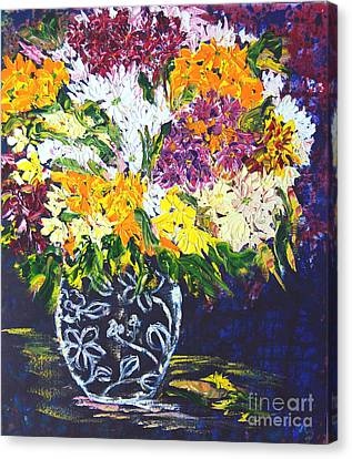 Spring Flowers Canvas Print by Lynda Cookson