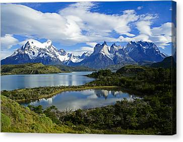 Springtime In Patagonia Canvas Print by Michele Burgess