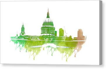 St Paul's Cathedral Canvas Print by Martin Newman