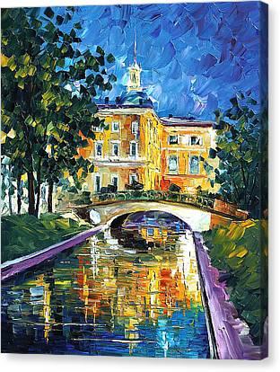 St Petersburg - Palette Knife Oil Painting On Canvas By Leonid Afremov Canvas Print by Leonid Afremov