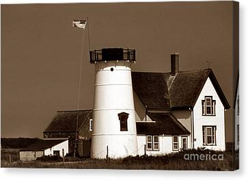 Stage Harbor Ma Canvas Print by Skip Willits