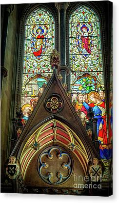 Stained Glass Window Canvas Print by Adrian Evans