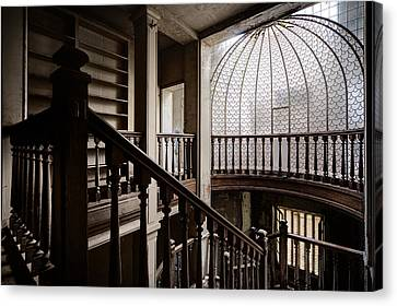 Dome Of Light - Abandoned Building Canvas Print by Dirk Ercken