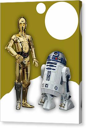 Star Wars C-3po And R2-d2 Canvas Print by Marvin Blaine