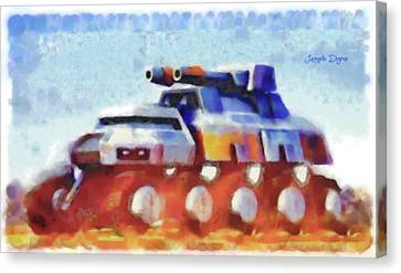 Star Wars Rebel Army Armor Vehicle - Watercolor Canvas Print by Leonardo Digenio