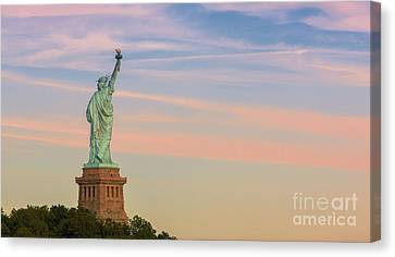 Statue Liberty Canvas Print by Henk Meijer Photography