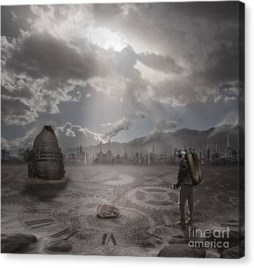 Steampunk Traveler Canvas Print by Keith Kapple