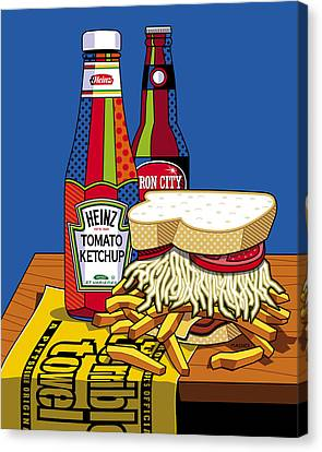 Steel Life Canvas Print by Ron Magnes