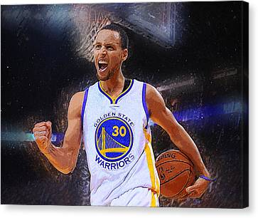 Stephen Curry Canvas Print by Semih Yurdabak