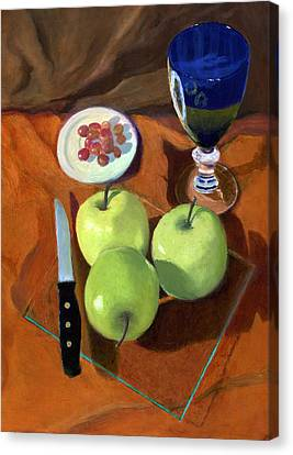 Still Life With Apples Canvas Print by Karyn Robinson