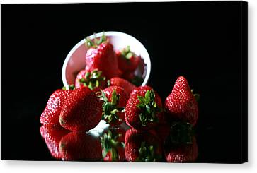 Strawberries Canvas Print by Michael Ledray