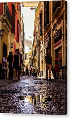 Streets Of Seville - Colors Of Spain Canvas Print by Andrea Mazzocchetti