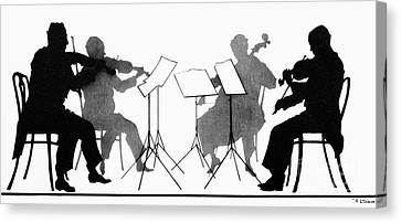 String Quartet, C1935 Canvas Print by Granger
