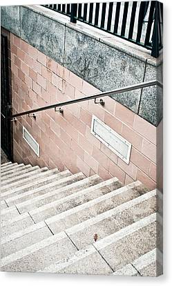 Subway Stairs Canvas Print by Tom Gowanlock