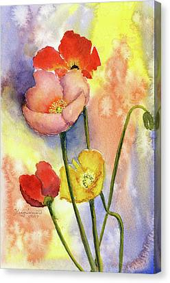 Summer Poppies Canvas Print by Vickey Swenson