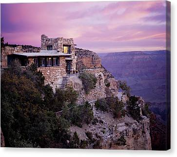 Sunrise Over Lookout Studio Canvas Print by Mike Buchheit