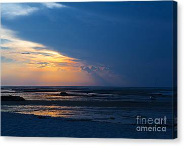 Sunset On Cape Cod Canvas Print by Diane Diederich