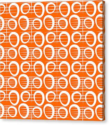 Tangerine Loop Canvas Print by Linda Woods