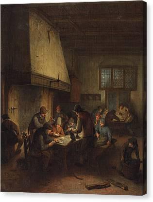 Tavern Scene Canvas Print by Adriaen van Ostade