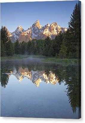 Teton Reflections Canvas Print by Andrew Soundarajan