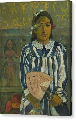 The Ancestors Of Tehamana Canvas Print by Paul Gauguin