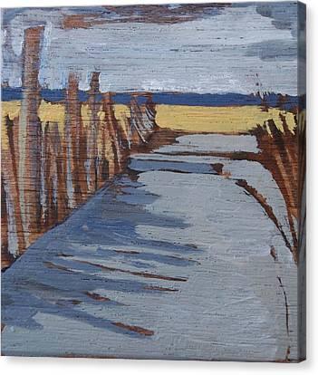 The Beach Canvas Print by Amy Bernays