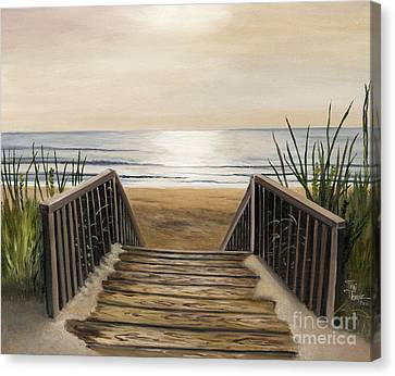 The Beach Canvas Print by Toni  Thorne