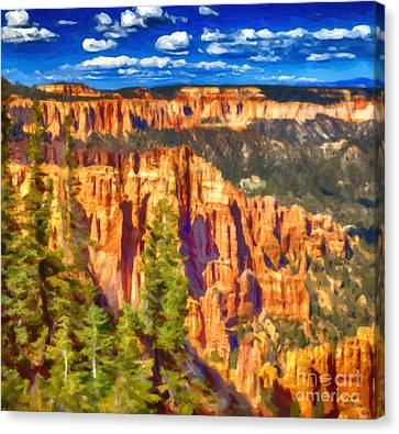 The Canyon Canvas Print by David Millenheft