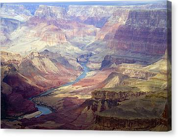 The Colorado River And The Grand Canyon Canvas Print by Annie Griffiths