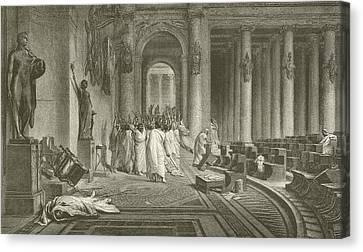 The Death Of Julius Caesar Canvas Print by Jean Leon Gerome