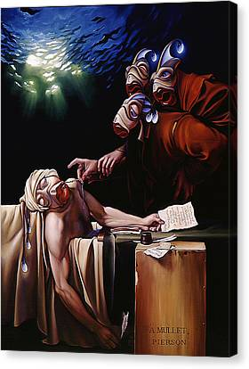 The Death Of Mullet Canvas Print by Patrick Anthony Pierson