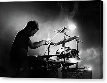 The Drummer Canvas Print by Johan Swanepoel