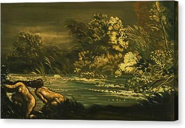 The Flood Canvas Print by Arthur Bowen Davies