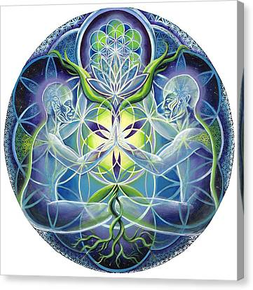 The Flowering Of Divine Unification Canvas Print by Morgan  Mandala Manley