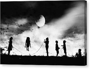 The Game High Jump Canvas Print by Jay Satriani
