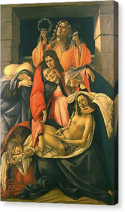 The Lamentation Over The Dead Christ Canvas Print by Mountain Dreams