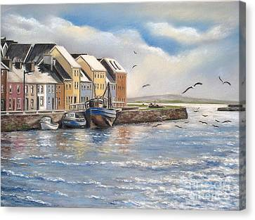 The Long Walk Galway Canvas Print by Vanda Luddy