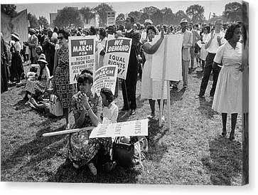 The March On Washington  At Washington Monument Grounds Canvas Print by Nat Herz
