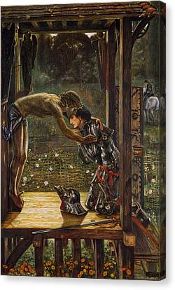 The Merciful Knight Canvas Print by Edward Burne-Jones