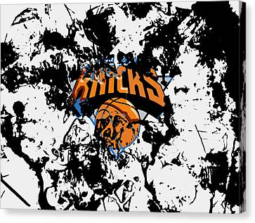 The New York Knicks Canvas Print by Brian Reaves