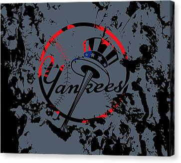 The New York Yankees Canvas Print by Brian Reaves