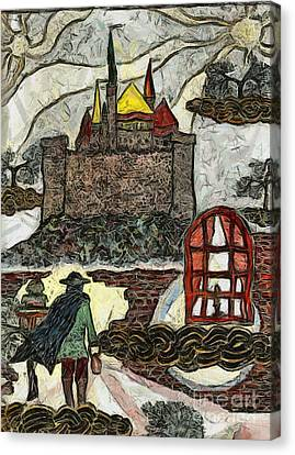 The Old Castle Canvas Print by Yury Bashkin