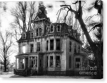 The Old Haunted Bruce Mansion Canvas Print by Jeff Holbrook
