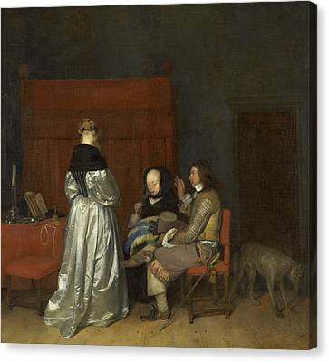 The Paternal Admonition Canvas Print by Gerard ter Borch