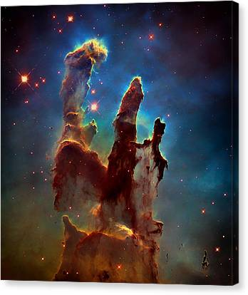 The Pillars Of Creation Canvas Print by Mountain Dreams