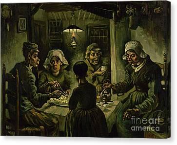 The Potato Eaters, 1885 Canvas Print by Vincent Van Gogh