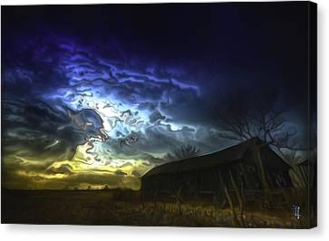 The Power Of A Storm In Formation Canvas Print by  Fli Art