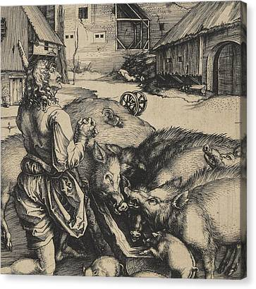 The Prodigal Son Canvas Print by Albrecht Durer or Duerer